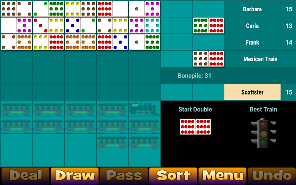 Mexican Train Dominoes 2