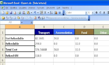 BER Business Expense Report