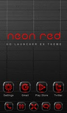 Neon Red GO Launcher EX Theme