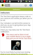 Text Neck Indicator LITE