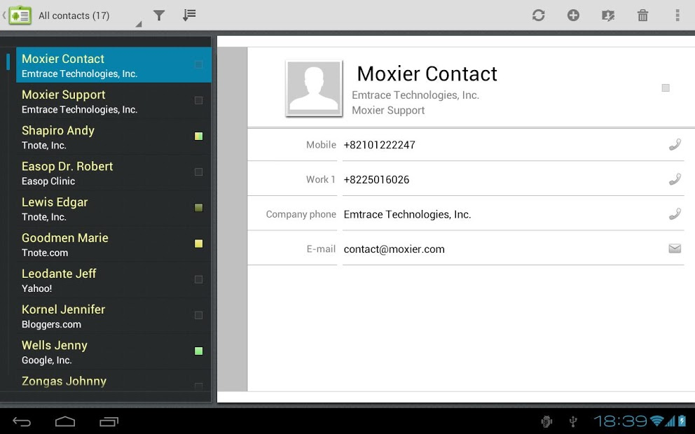 Moxier Mail for Tablet - Trial
