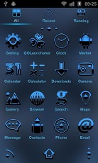 Android Blue GO Launcher EX